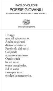 Copertina del libro Poesie giovanili di Paolo Volponi