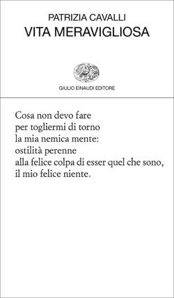 Copertina del libro Vita meravigliosa di Patrizia Cavalli