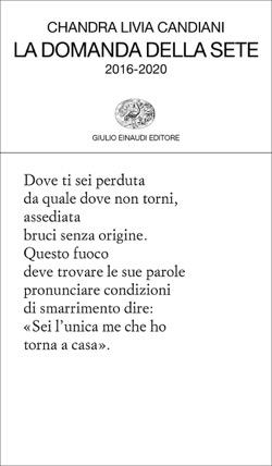 Copertina del libro La domanda della sete di Chandra Livia Candiani