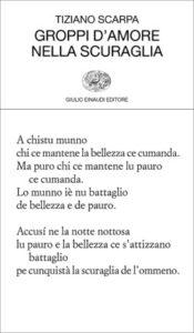 Copertina del libro Groppi d'amore nella scuraglia di Tiziano Scarpa