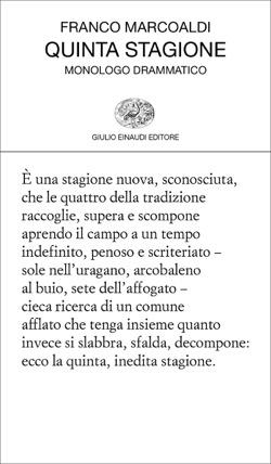 Copertina del libro Quinta stagione di Franco Marcoaldi