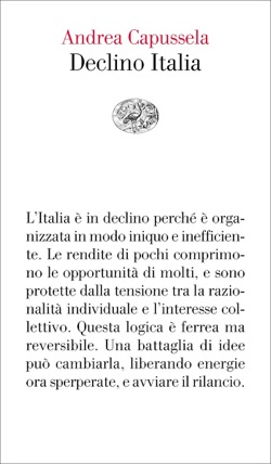 Copertina del libro Declino Italia di Andrea Capussela