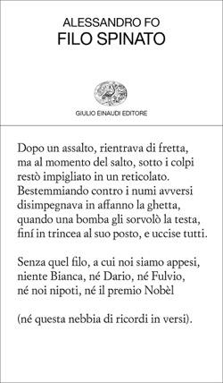 Copertina del libro Filo spinato di Alessandro Fo