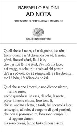 Copertina del libro Ad nòta di Raffaello Baldini