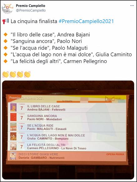Premio, Campiello, finale, cinquina
