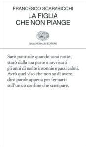 Copertina del libro La figlia che non piange di Francesco Scarabicchi