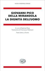 Copertina del libro La dignità dell'uomo di Giovanni Pico della Mirandola
